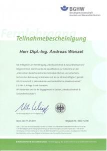 Zertifikat BGHW Arb.sich.+Ges.schutz 001